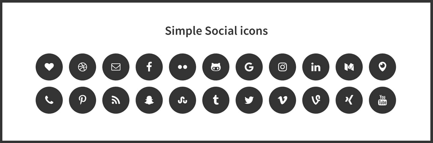 Simple Social Icons